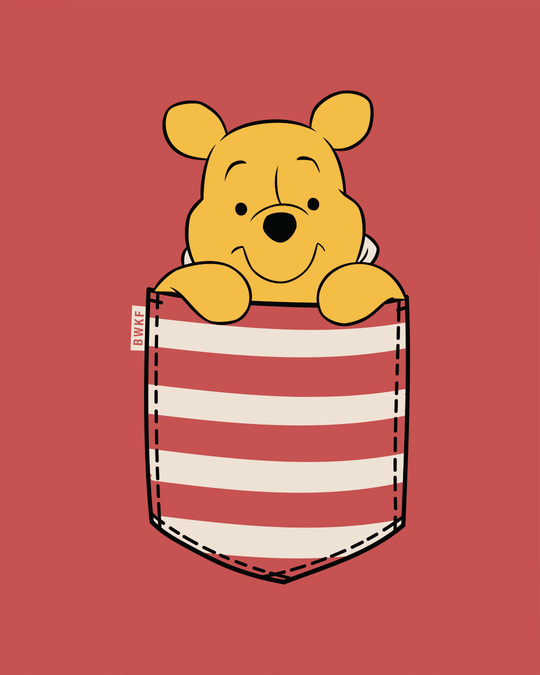 Shop Stripe Pocket Pooh Full Sleeve T-Shirt (DL)-Full