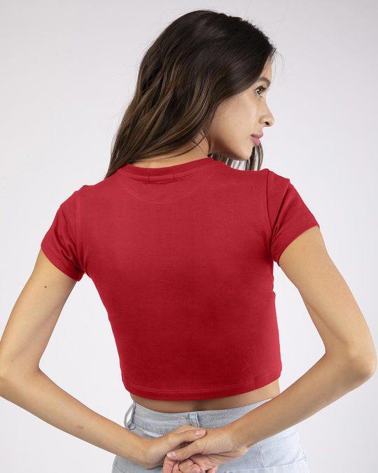 Shop Stripe Pocket Pooh Round Neck Crop Top-Back