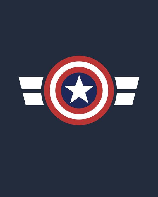 Shop Striped Captain America Crewneck Varsity Rib H/S T-Shirt (AVL)-Multicolor