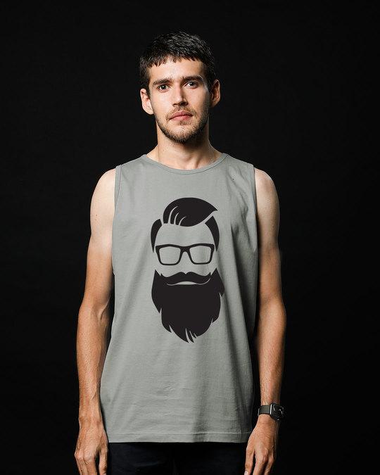 Shop Beard Man Vest-Front