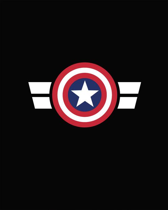 Shop Striped Captain America Printed Badge Full Sleeve T-Shirt (AVL)