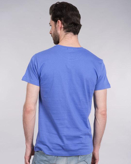 Shop Striped Captain America Printed Badge Half Sleeve T-Shirt (AVL)-Full
