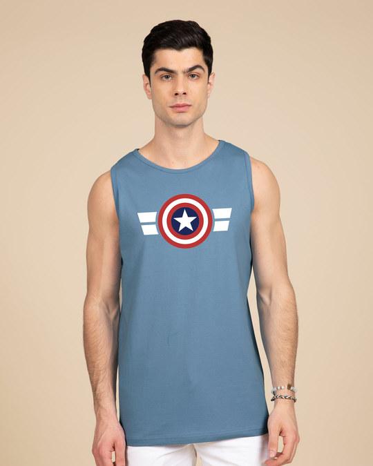 Shop Striped Captain America Vest (AVL)-Front