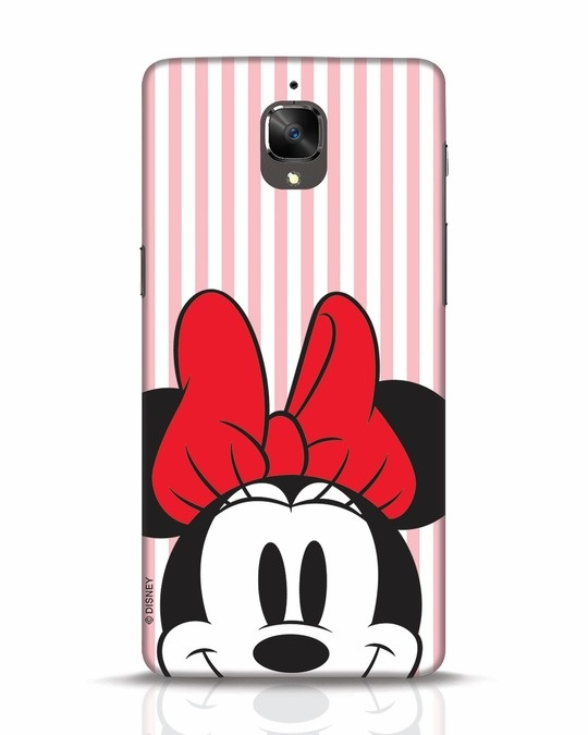 Shop Striped Minnie OnePlus 3T Mobile Cover-Front