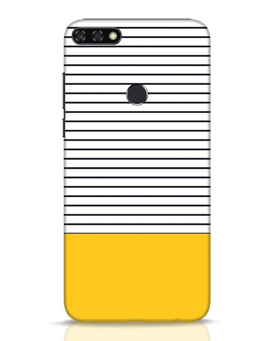 Shop Stripes And Block Huawei Honor 7C Mobile Cover-Front