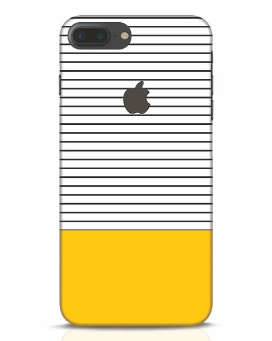 Shop Stripes And Block iPhone 7 Plus Logo Cut Mobile Cover-Front