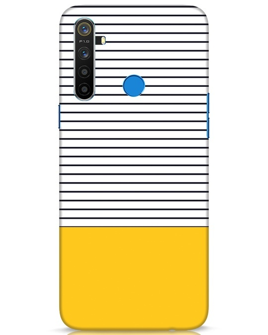 Shop Stripes And Block Realme 5 Mobile Cover-Front