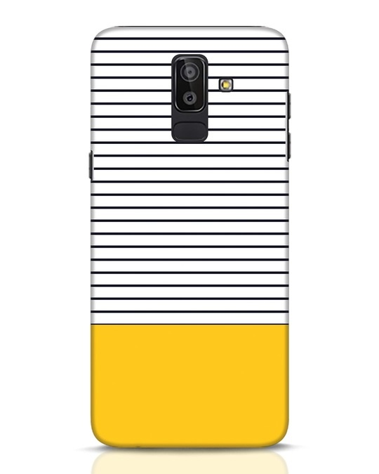 Shop Stripes And Block Samsung Galaxy J8 Mobile Cover-Front