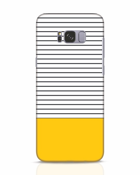 Shop Stripes And Block Samsung Galaxy S8 Mobile Cover-Front