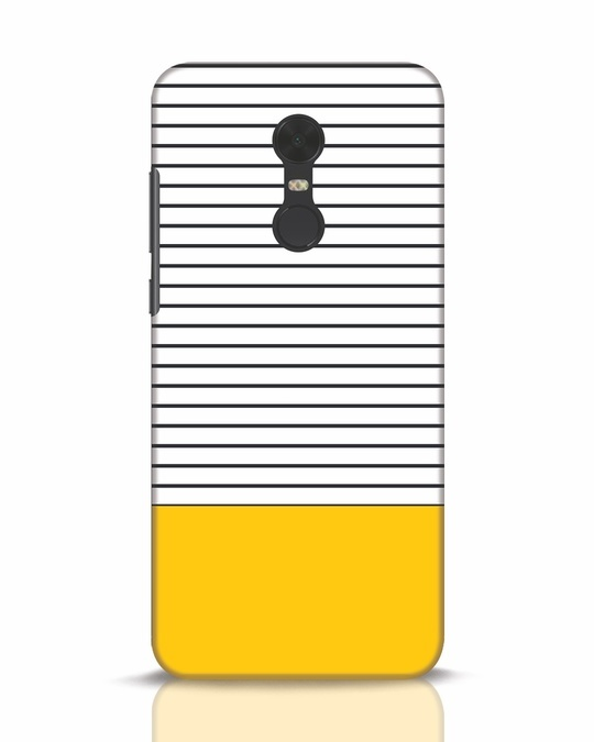 Shop Stripes And Block Xiaomi Redmi Note 5 Mobile Cover-Front