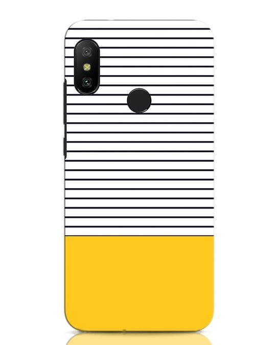 Shop Stripes And Block Xiaomi Redmi Note 6 Pro Mobile Cover-Front