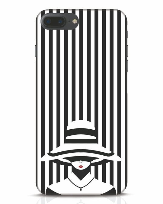 Shop Stripes Lady iPhone 7 Plus Mobile Cover-Front