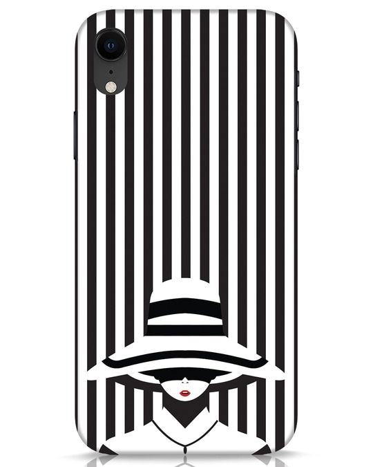 Shop Stripes Lady iPhone XR Mobile Cover-Front