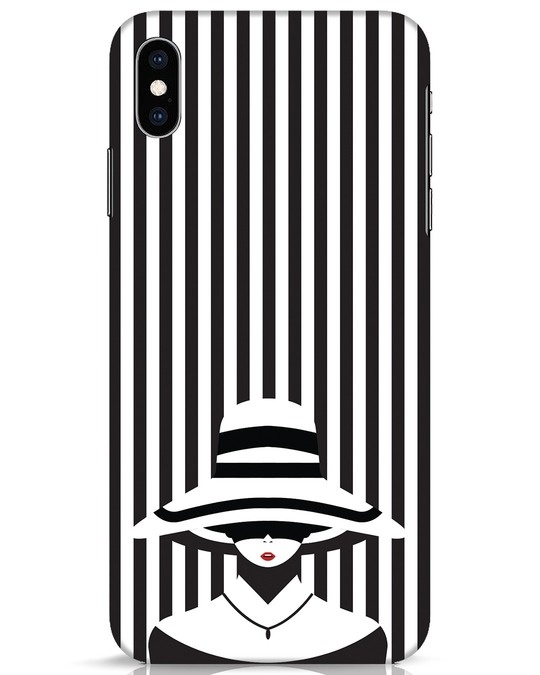 Shop Stripes Lady iPhone XS Max Mobile Cover-Front