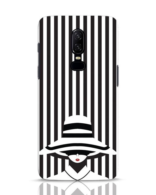 Shop Stripes Lady OnePlus 6 Mobile Cover-Front