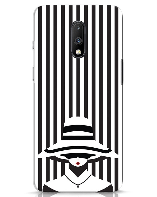 Shop Stripes Lady OnePlus 7 Mobile Cover-Front
