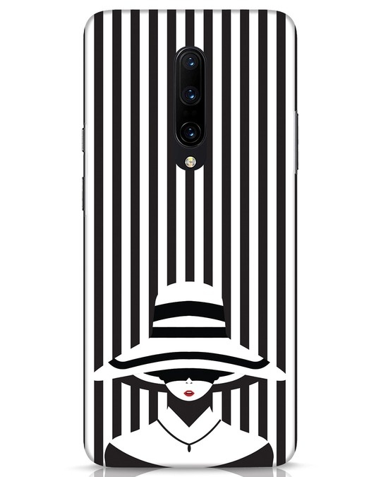 Shop Stripes Lady OnePlus 7 Pro Mobile Cover-Front