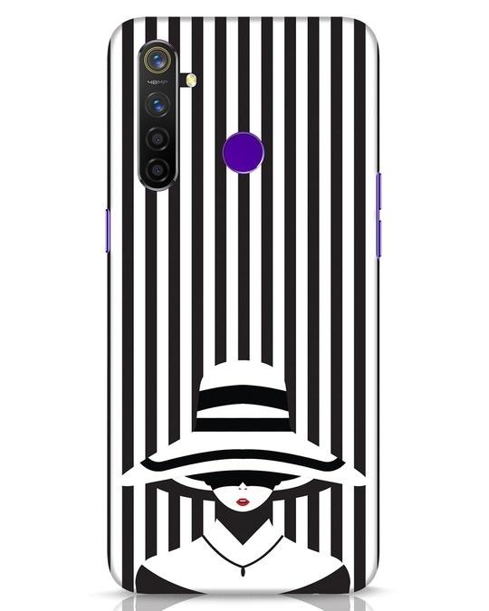 Shop Stripes Lady Realme 5 Pro Mobile Cover-Front