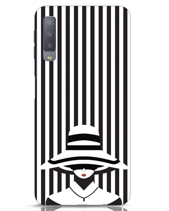 Shop Stripes Lady Samsung Galaxy A7 Mobile Cover-Front