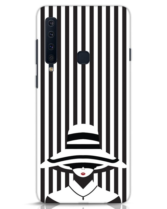 Shop Stripes Lady Samsung Galaxy A9 2018 Mobile Cover-Front