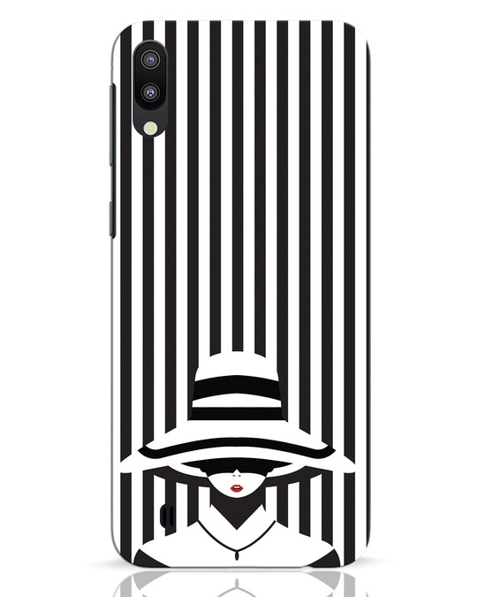 Shop Stripes Lady Samsung Galaxy M10 Mobile Cover-Front