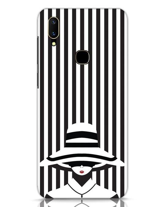 Shop Stripes Lady Vivo V11 Mobile Cover-Front