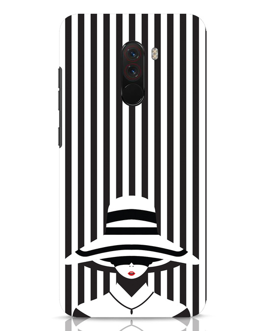 Shop Stripes Lady Xiaomi POCO F1 Mobile Cover-Front