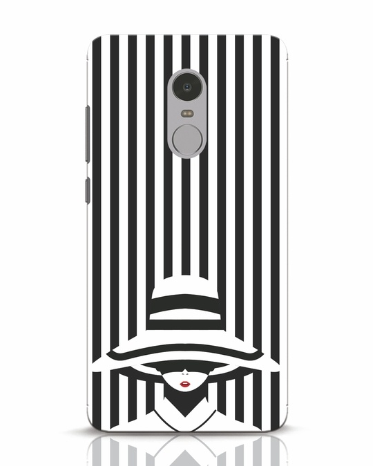 Shop Stripes Lady Xiaomi Redmi Note 4 Mobile Cover-Front