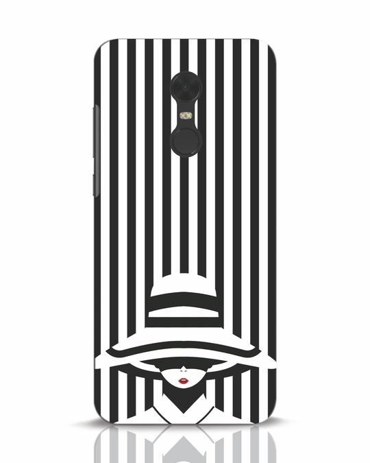 Shop Stripes Lady Xiaomi Redmi Note 5 Mobile Cover-Front