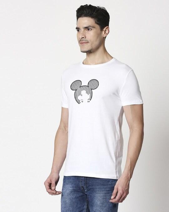 Shop Stripes Mickey Half Sleeve T-Shirt (HD)-Back