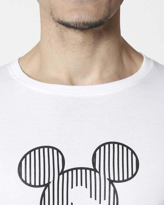 Shop Stripes Mickey Half Sleeve T-Shirt (HD)-Full