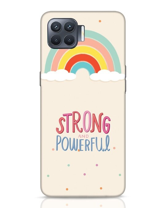 Shop Strong Women Oppo F17 Pro Mobile Cover-Front