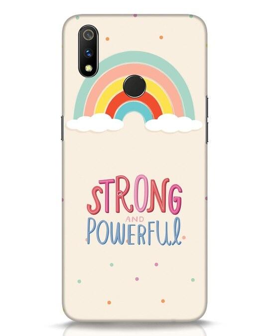 Shop Strong Women Realme 3 Pro Mobile Cover-Front