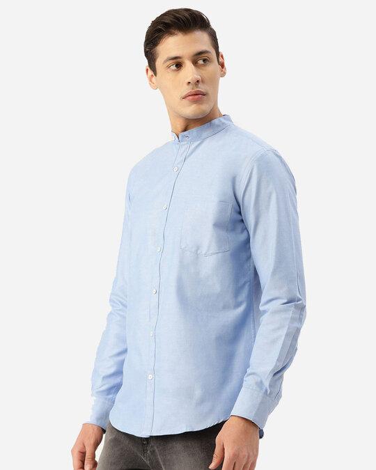 Shop Style Quotient Men Blue Solid Smart Shirt-Back