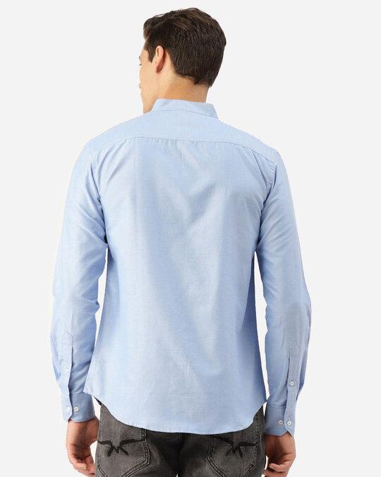 Shop Style Quotient Men Blue Solid Smart Shirt-Design