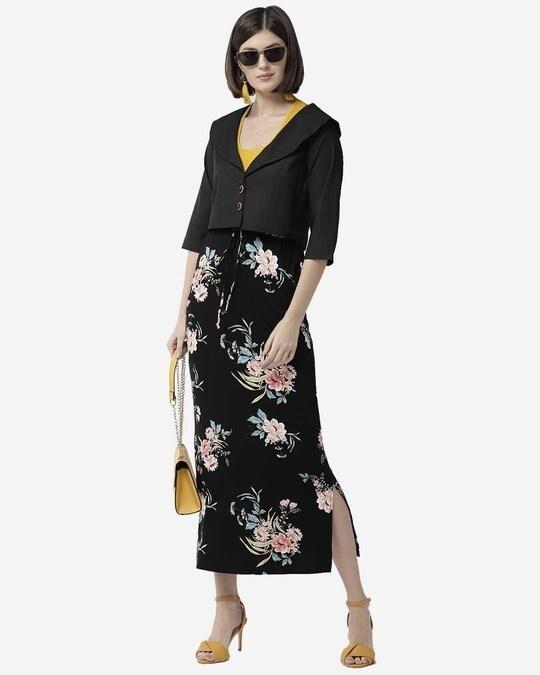 Shop Style Quotient Women Black Solid Buttoned Shrug