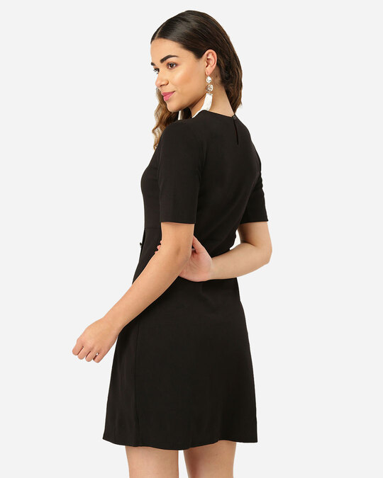 Shop Women Black Solid Sheath Dress-Design