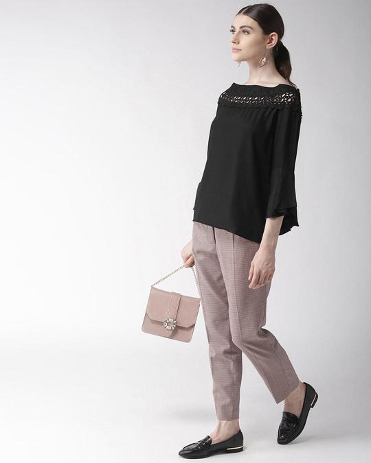 Shop Style Quotient Women Black Solid Top-Full