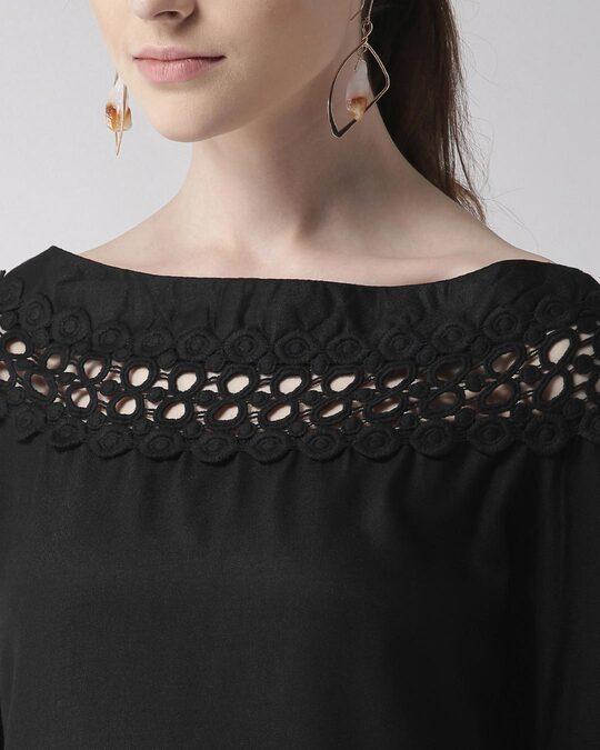 Shop Style Quotient Women Black Solid Top