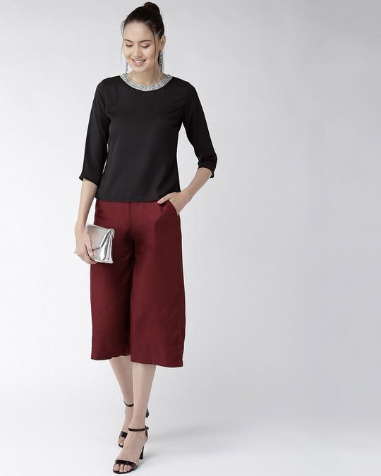 Shop Women Black Solid Top-Full