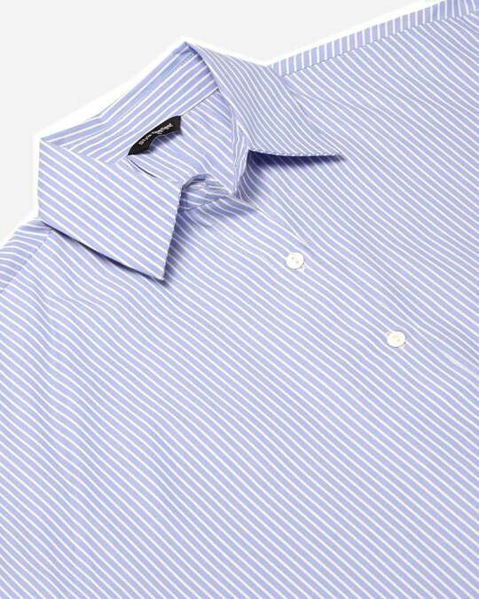 Shop Women Blue & White Striped Shirt