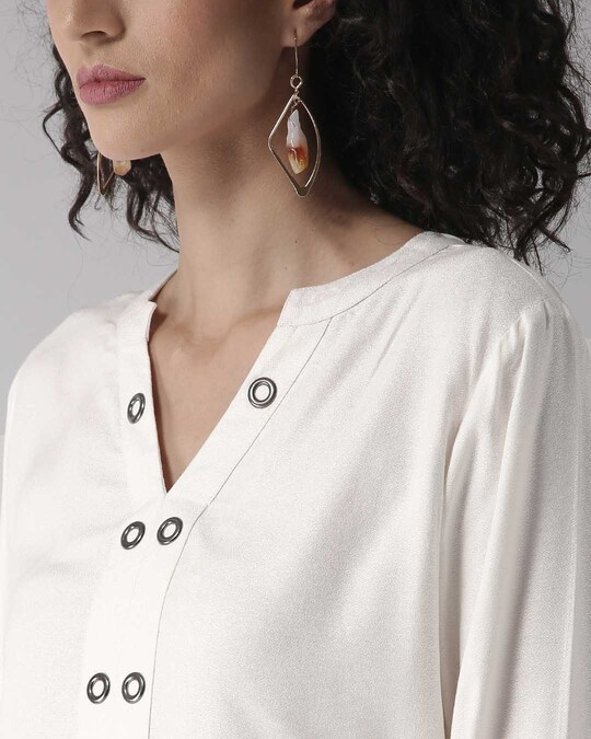 Shop Women White Solid Top