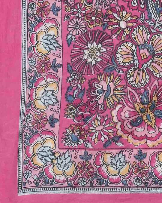 Shop Womens Cotton Pink Scarf-Full