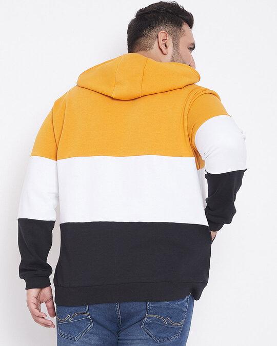 Shop Men Plus Size Colourblocked Stylish Casual Winter Hooded Sweatshirts-Design