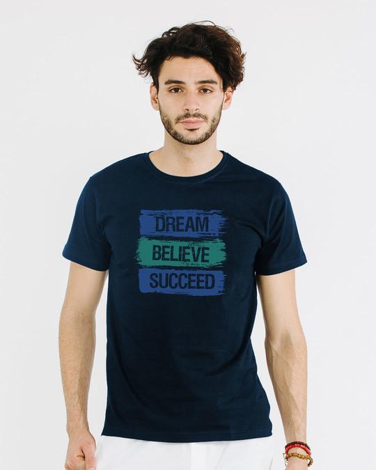 Shop Succeed Half Sleeve T-Shirt-Back