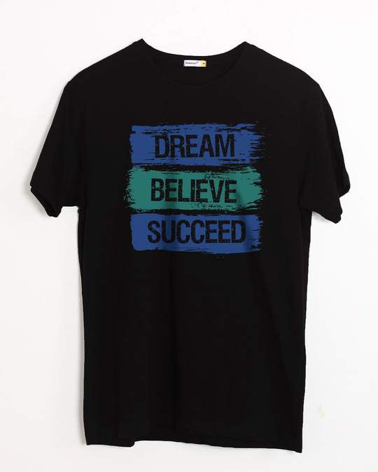 Shop Succeed Half Sleeve T-Shirt-Front