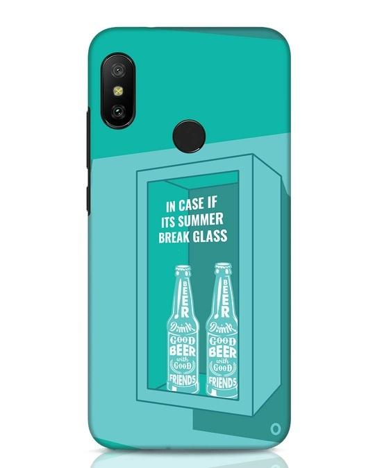 Shop Summer Caution Xiaomi Redmi Note 6 Pro Mobile Cover-Front