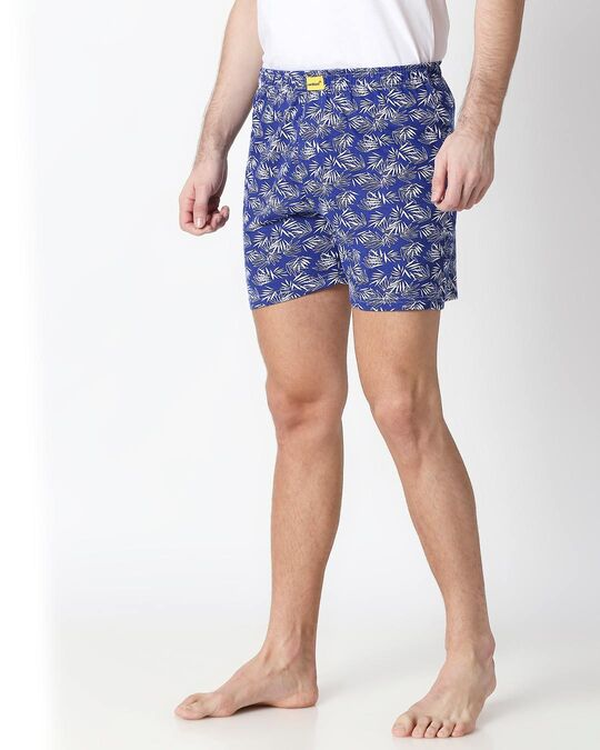 Shop Summer Vibes Blue Knitted Boxers-Back