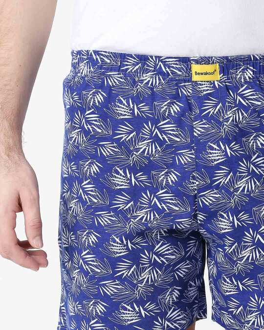 Shop Summer Vibes Blue Knitted Boxers