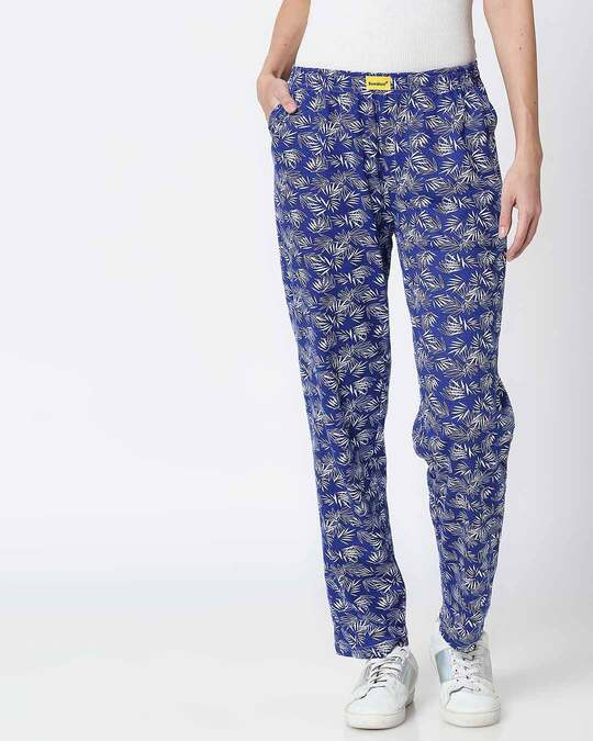 Shop Summer Vibes Blue Knitted Pyjamas-Front